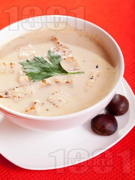Крем супа от кестени - снимка на рецептата